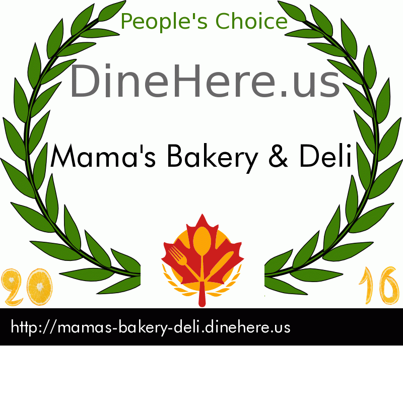 Mama's Bakery & Deli DineHere.us 2016 Award Winner