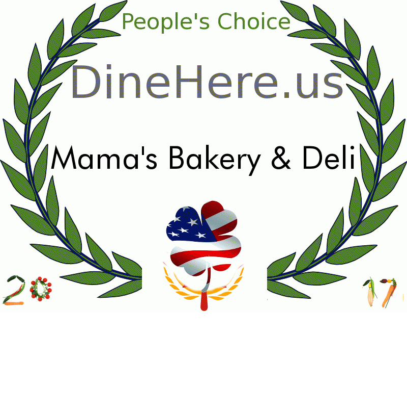 Mama's Bakery & Deli DineHere.us 2017 Award Winner